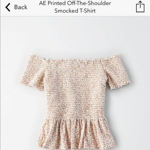 American Eagle Printed off the shoulder shirt